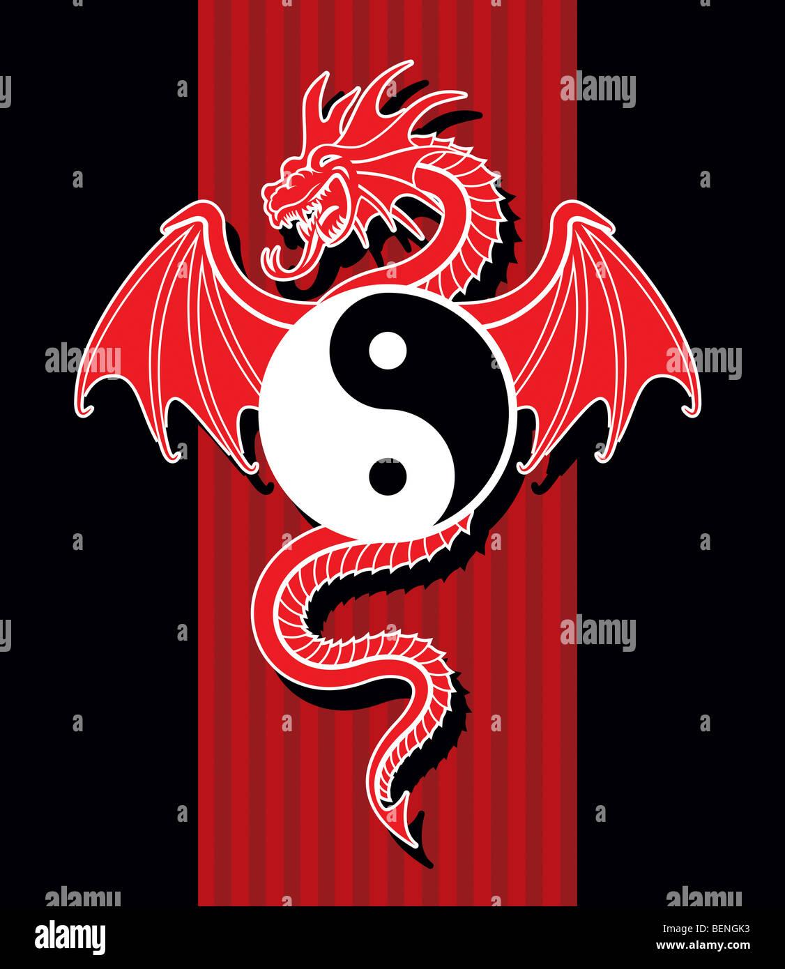 Taoism Symbols Dragon: Yin And Yang Dragon Stock Photos & Yin And Yang Dragon