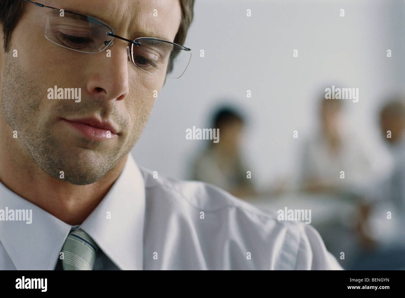 26a147fdc145 Furrowed Brow Stock Photos   Furrowed Brow Stock Images - Alamy