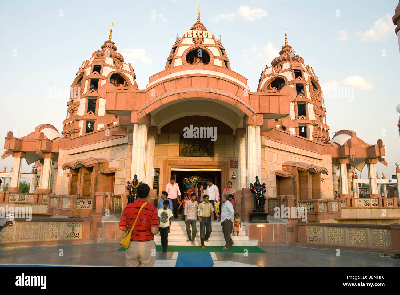 Iskcon Temple New Delhi India Stock Photo