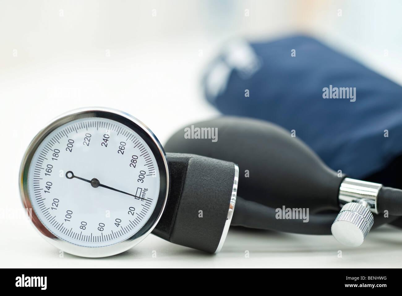 Aneroid sphygmomanometer (blood pressure gauge) - Stock Image