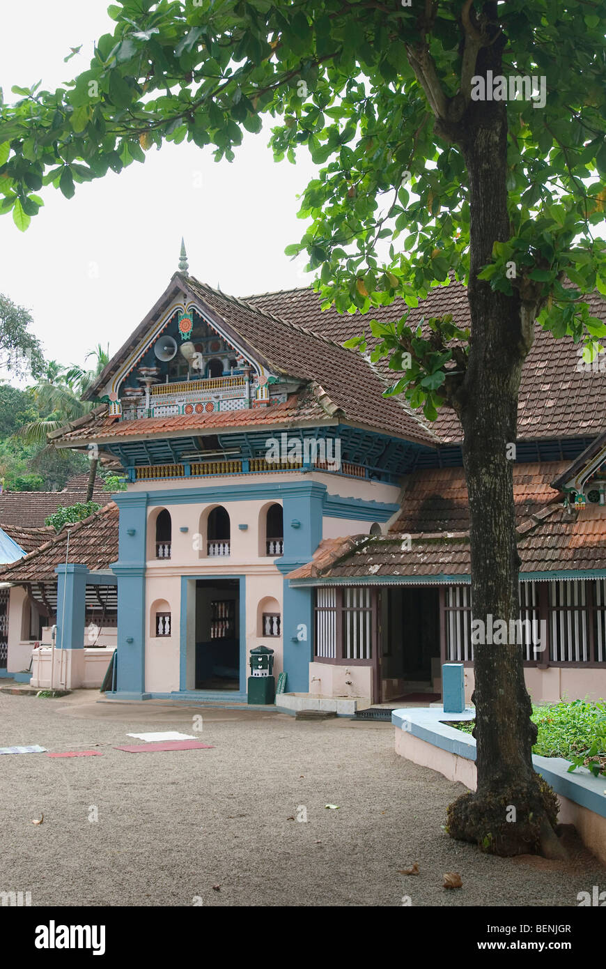 Thazhathangady Juma Masjid built around 1500 years ago by early Arab travelers during the time of the Cheraman empire - Stock Image