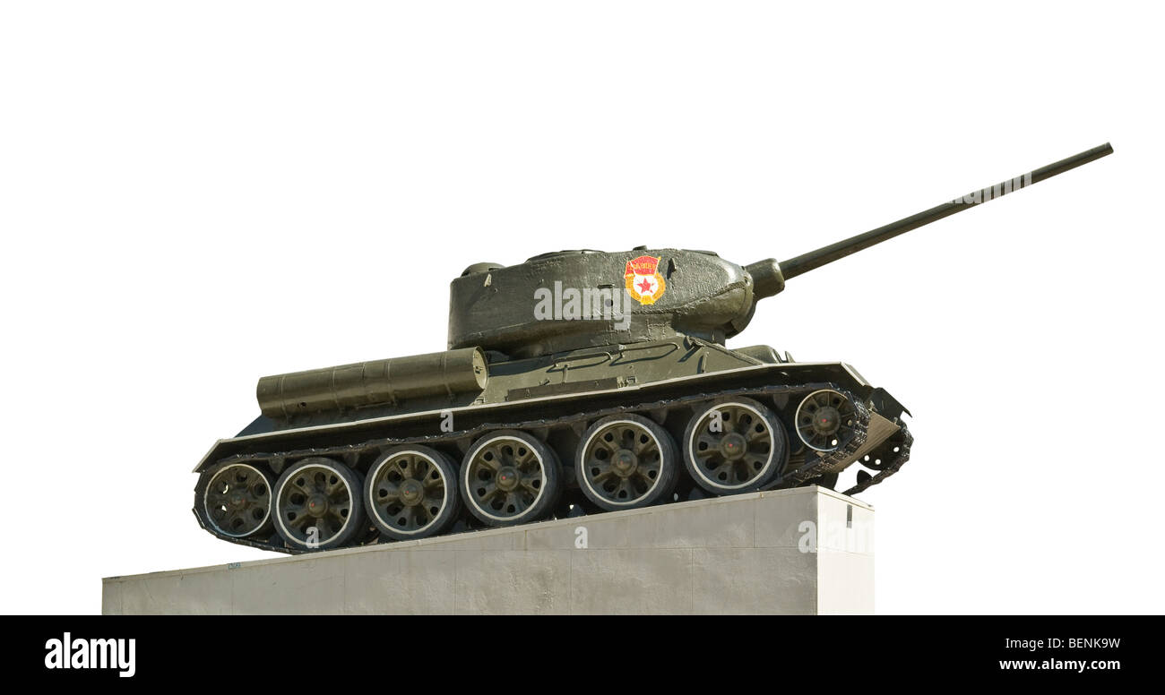 Russian tank isolated T-34 - Stock Image