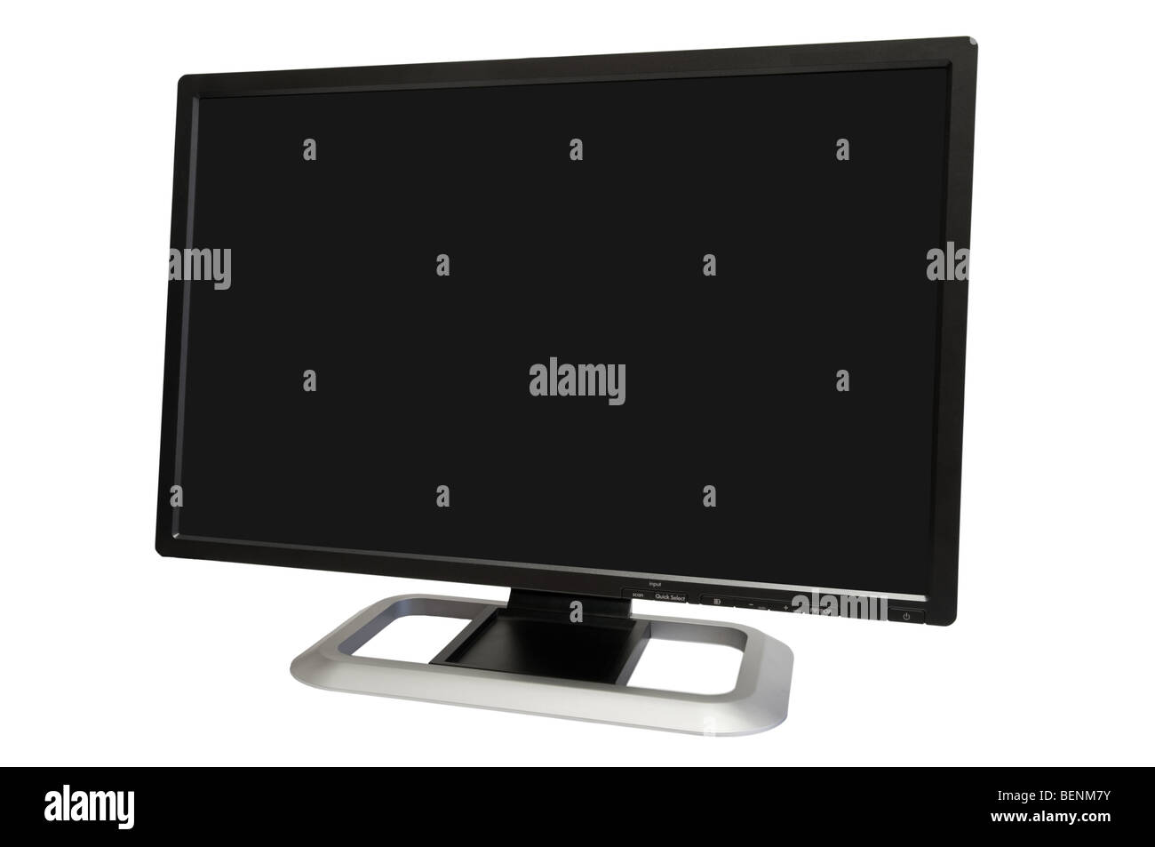 24 inch wide computer monitor isolated on white Stock Photo