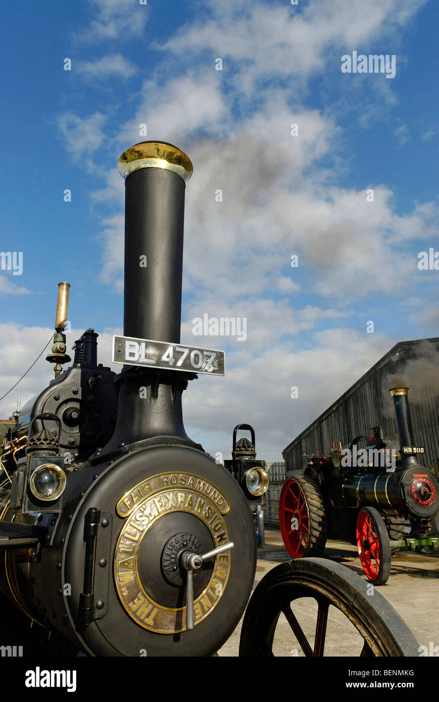 2 Wallis & Steevens Steam Engines, Fair Rosamund & Little Lauren - Stock Image