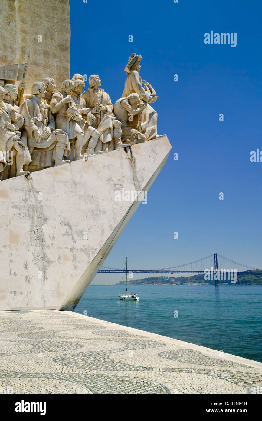 Portugal, the monument to the discoveries, Belem, lisbon - Stock Image