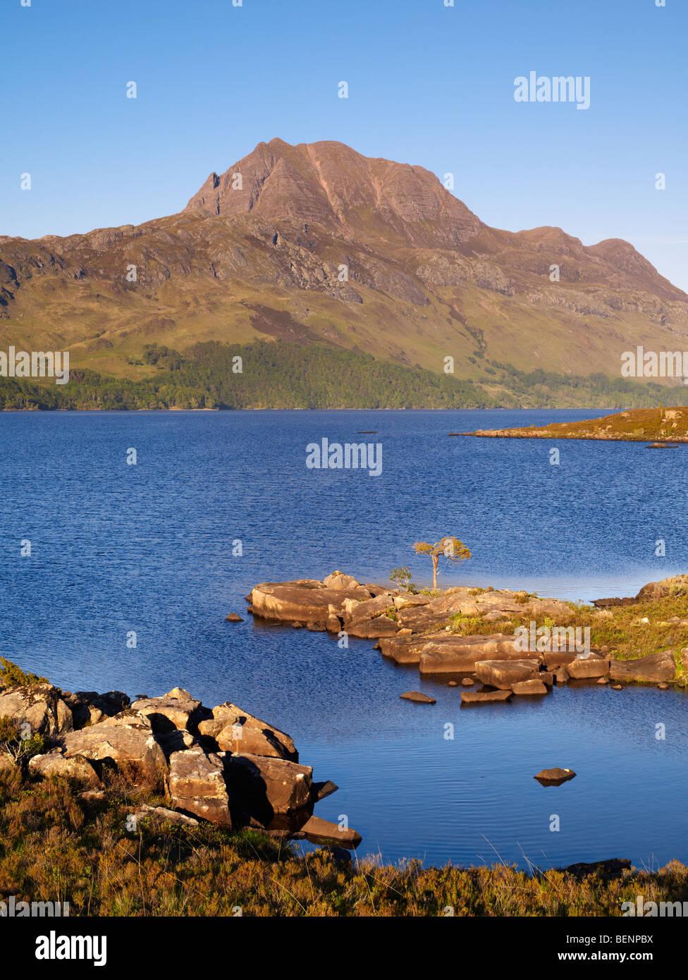 Scotland, Wester Ross, Loch Maree & Slioch - Stock Image