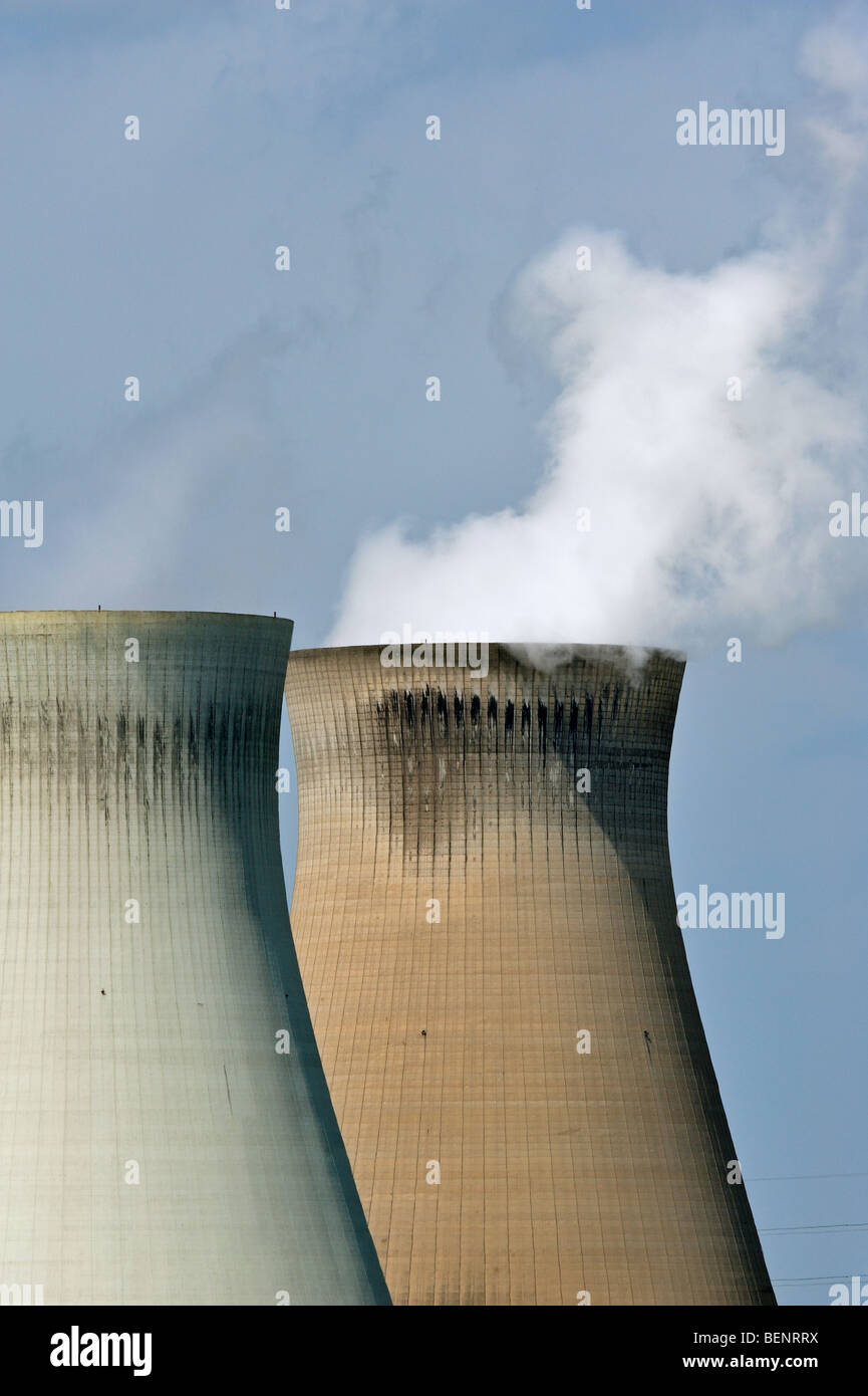 Cooling towers the nuclear power plant - Stock Image