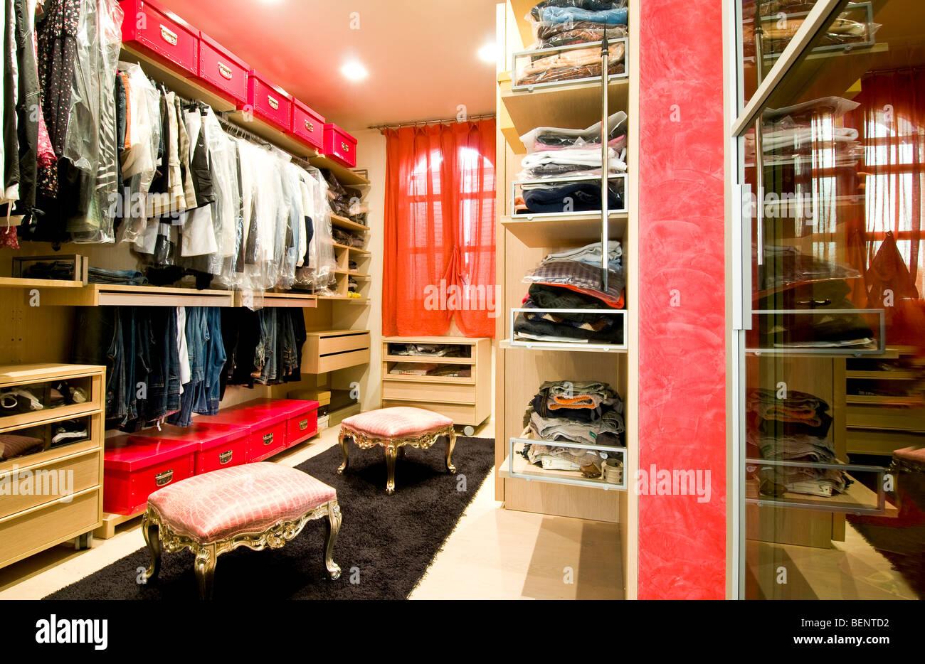Italy, home interior,  closet - Stock Image