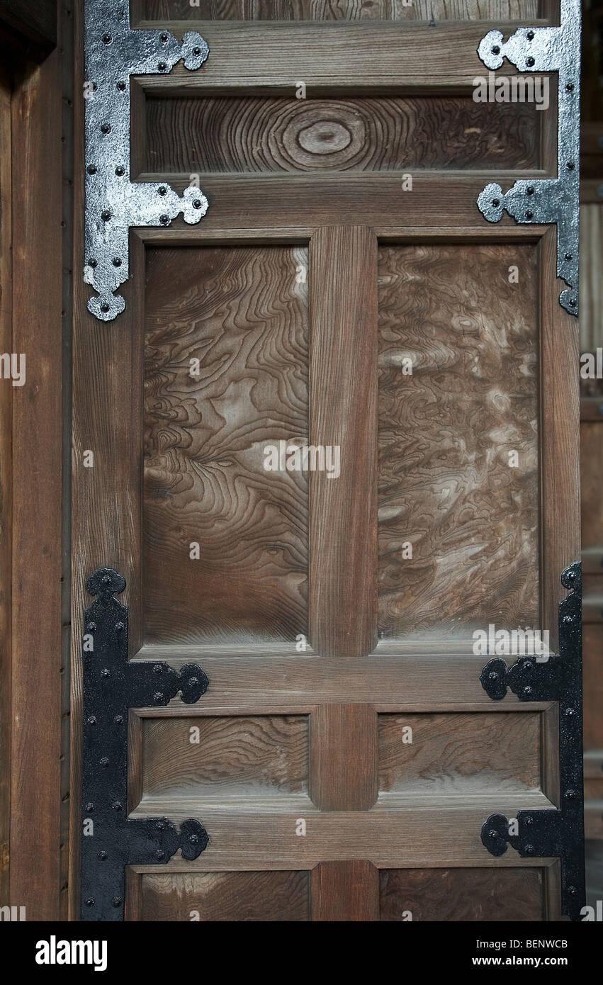 JAPAN Eikando or Zenrinji Temple Kyoto. Detail of woodwork and door hinges. photo by Sean Spraqgue 2008 & JAPAN Eikando or Zenrinji Temple Kyoto. Detail of woodwork and door ...