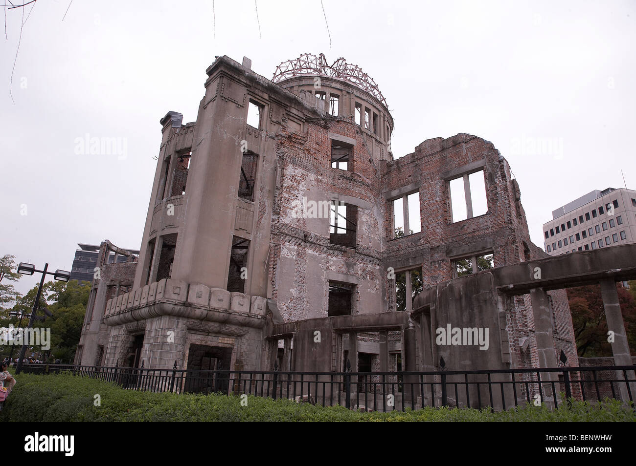 JAPAN The atomic dome, where the atom bomb exploded, Hiroshima. photo by Sean Spraqgue 2008 - Stock Image