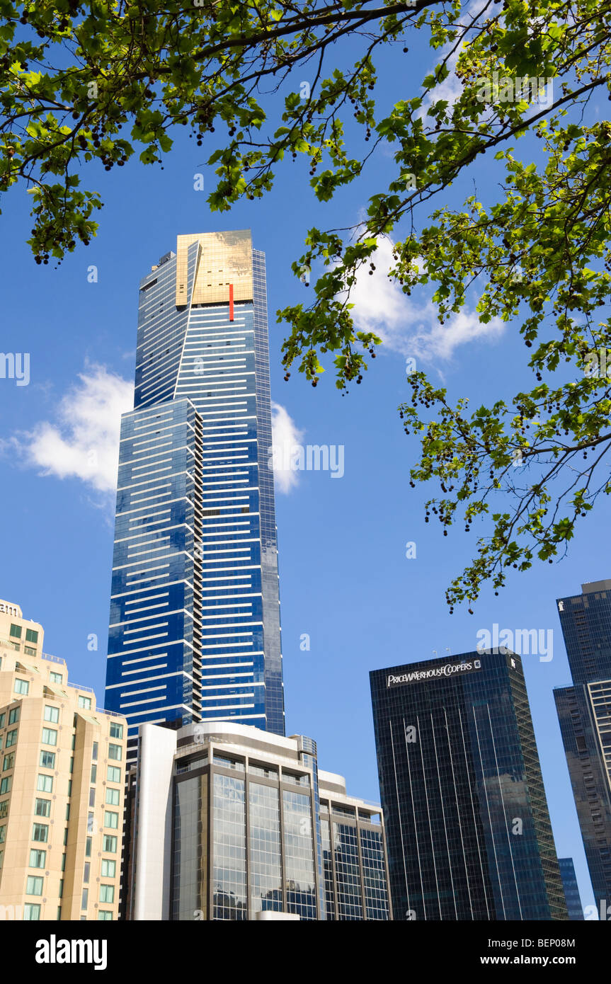 Eureka Tower, Melbourne. One of the world's tallest residential buildings. Please click for more details. Stock Photo