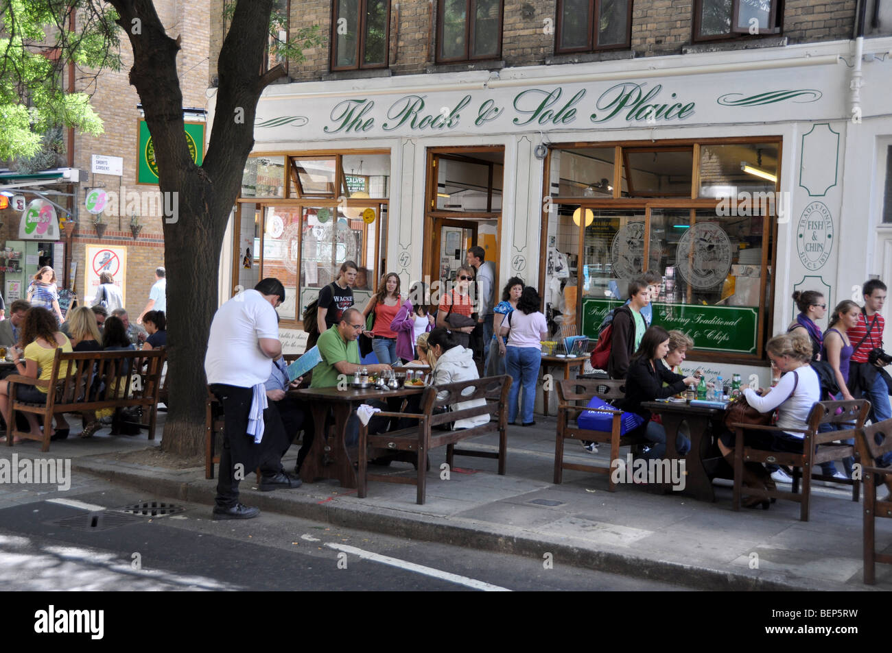 Popular fish and chip restaurant in London's Covent Garden London England - Stock Image