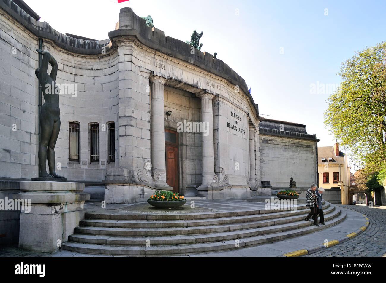 The museum of fine art / Musée des Beaux-Arts, Tournai, Belgium Stock Photo