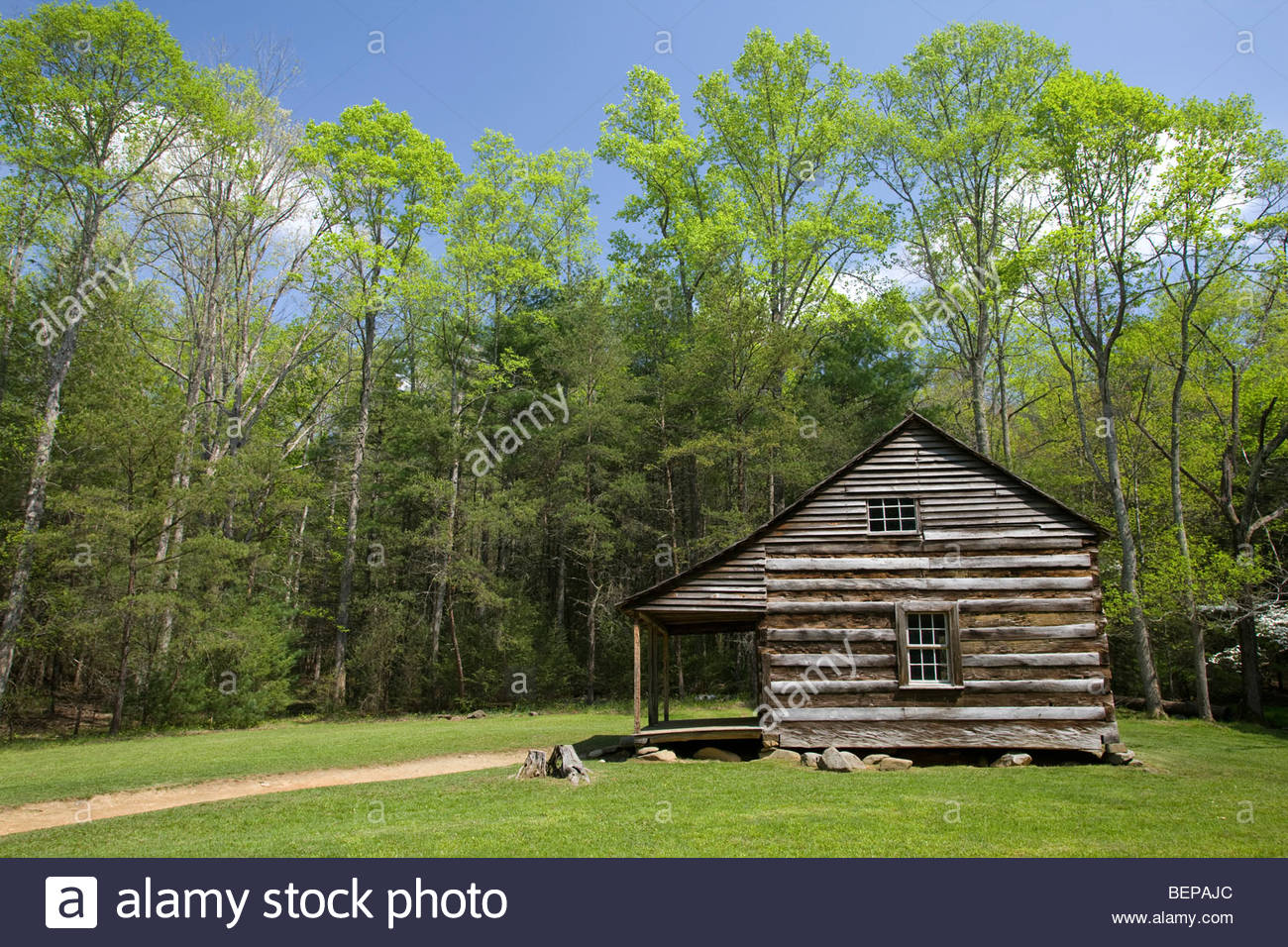 Carter Shields Cabin, Cades Cove, Great Smoky Mountain National Park - Stock Image