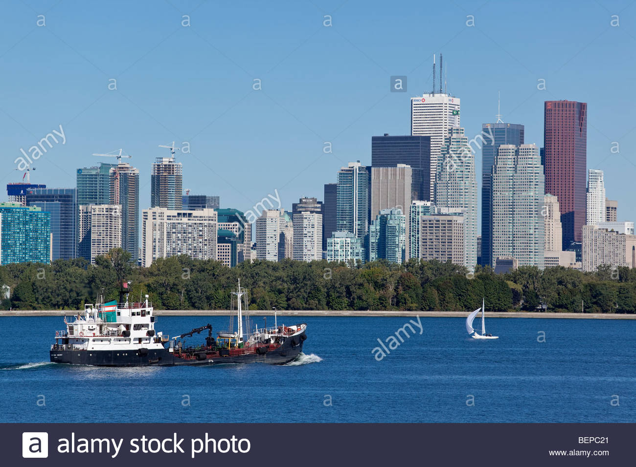 Refueling tanker HAMILTON ENERGY in the Outer Harbour in Toronto Ontario Canada - Stock Image