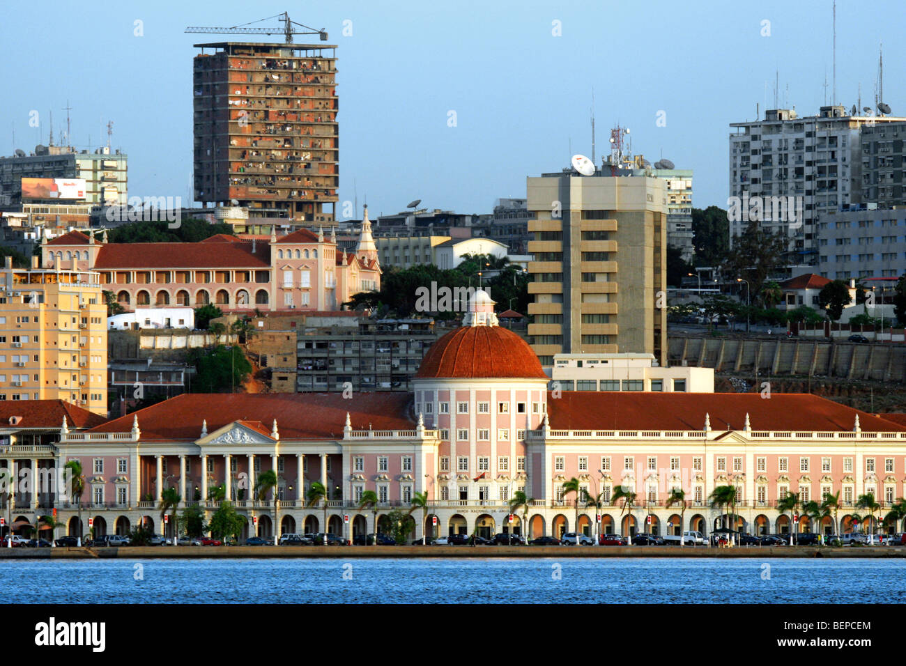 High-rise blocks in the business centre of Luanda, capital city of Angola, Southern Africa - Stock Image
