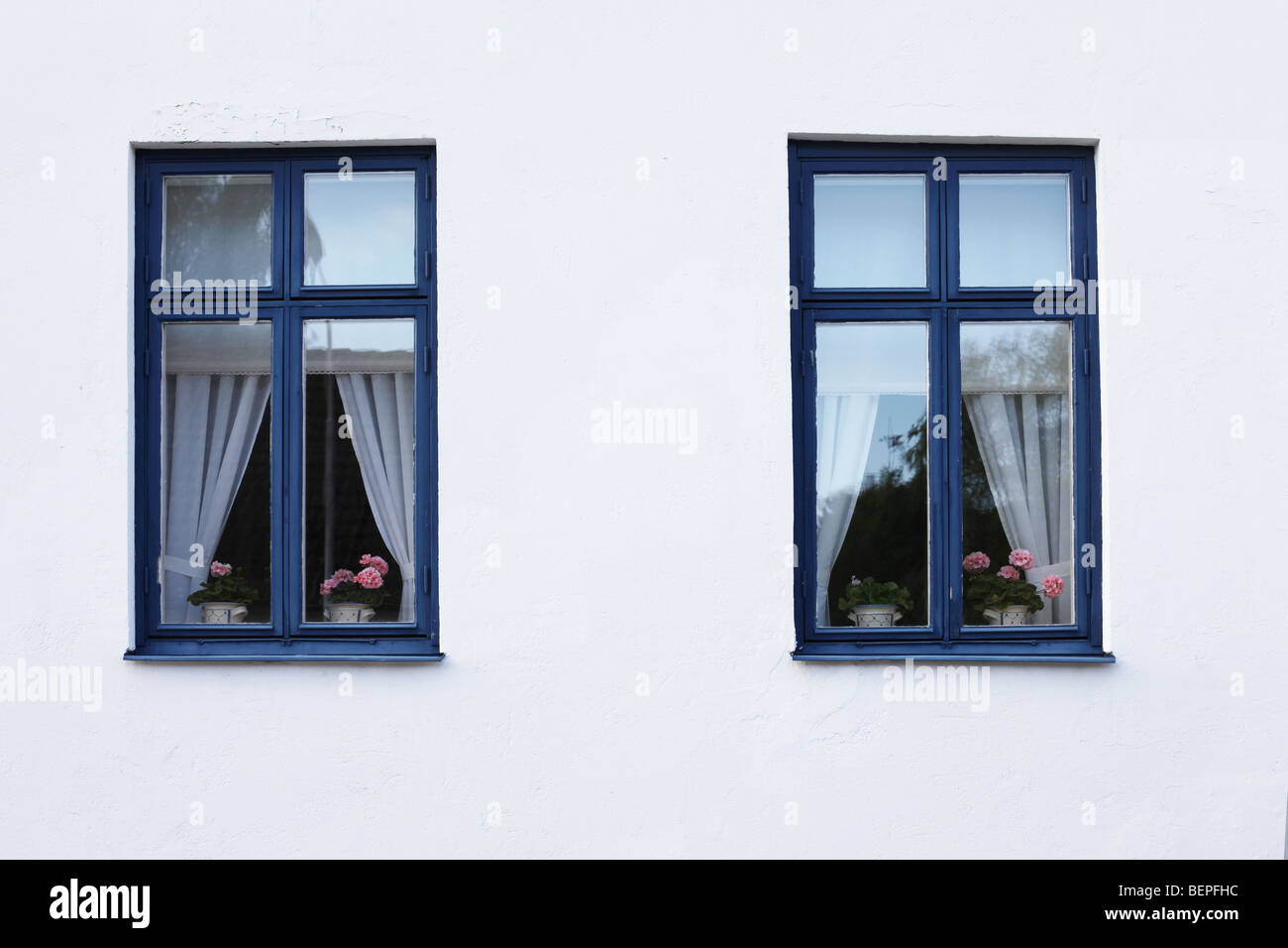 Two identical windows - Stock Image
