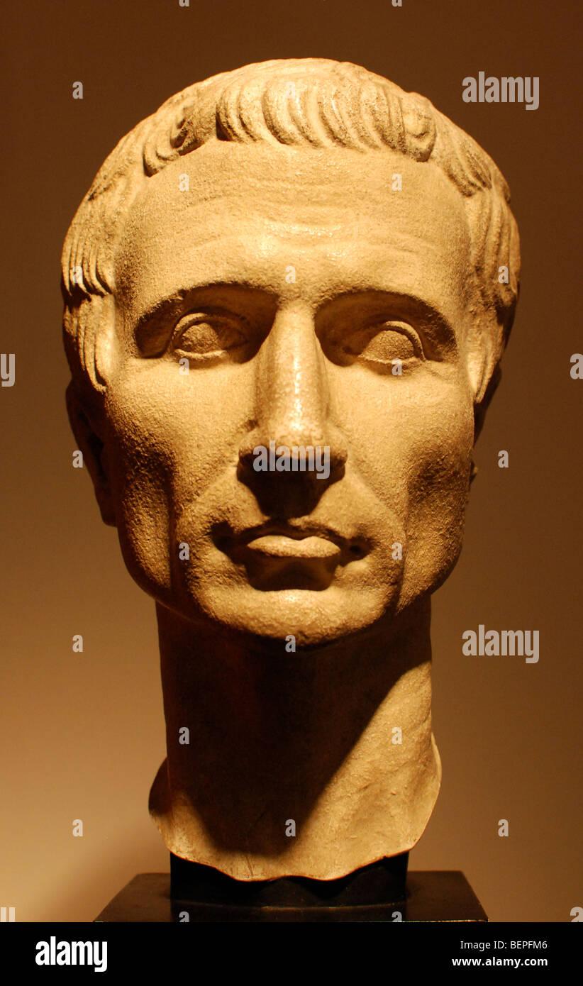 A First century bust of Gaius Julius Caesar - Stock Image