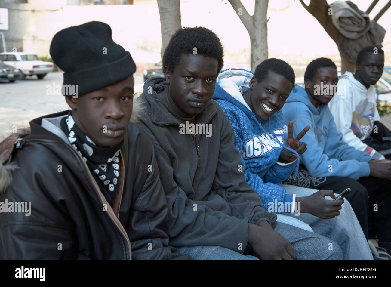 egypt image shows sudanese refugees living in alexandria taken at