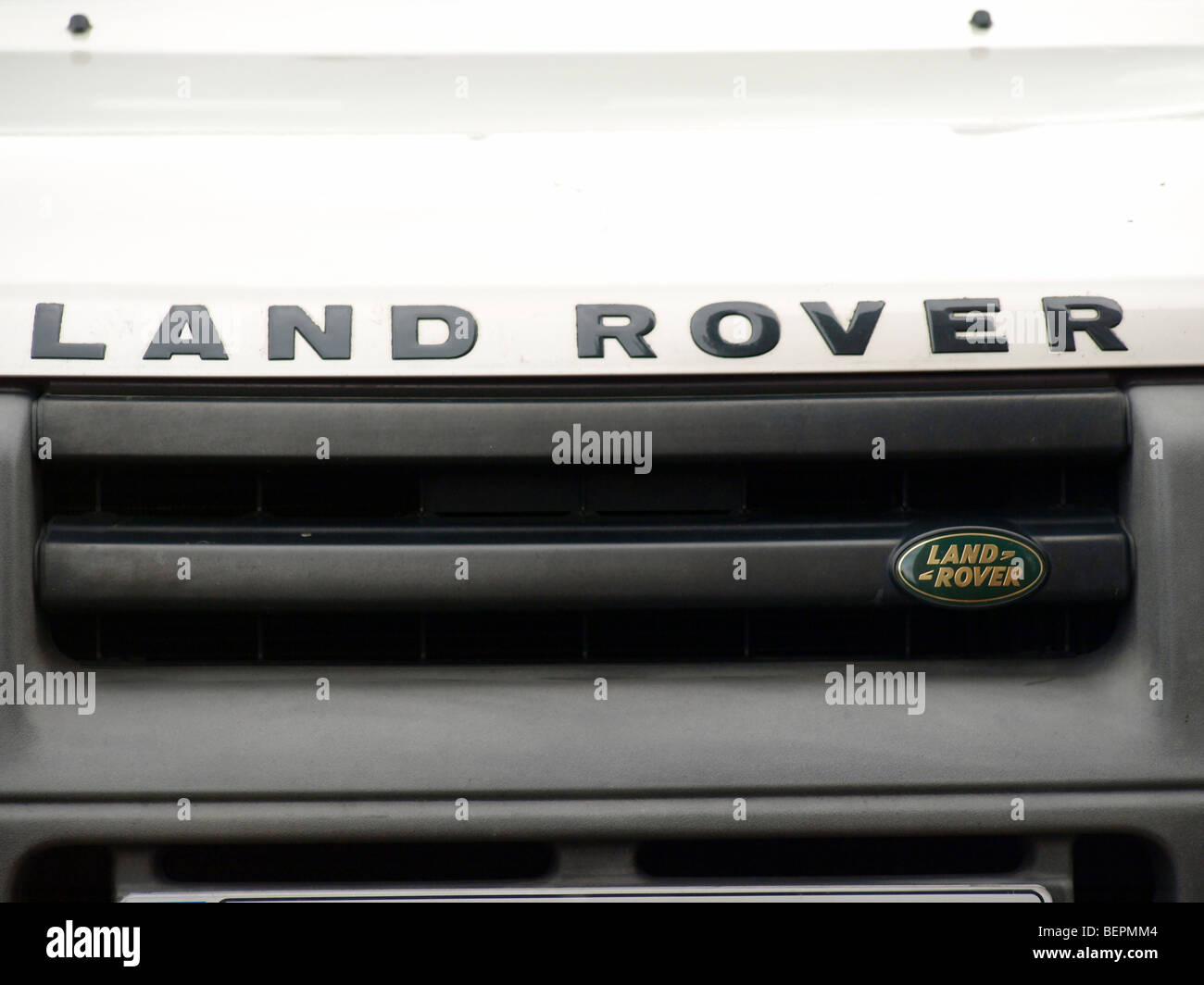 The front of a Land Rover Freelander. - Stock Image