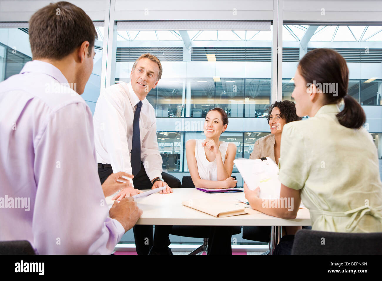 A corporate business meeting - Stock Image