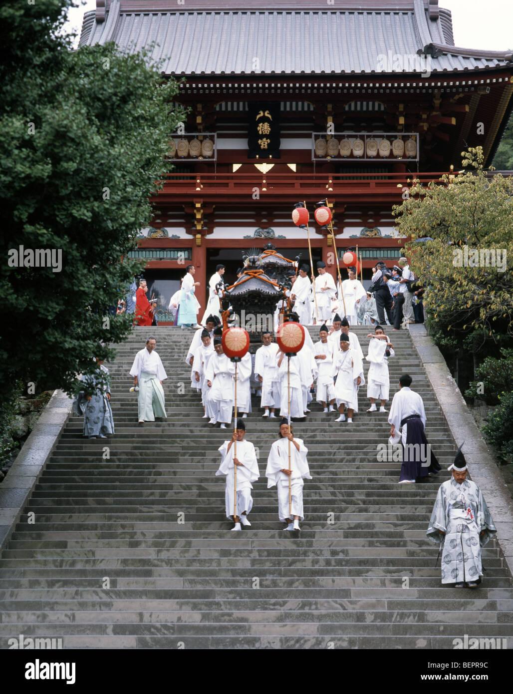 Hachimangu Shrine Festival,  Kamakura, Kanagawa, Japan - Stock Image