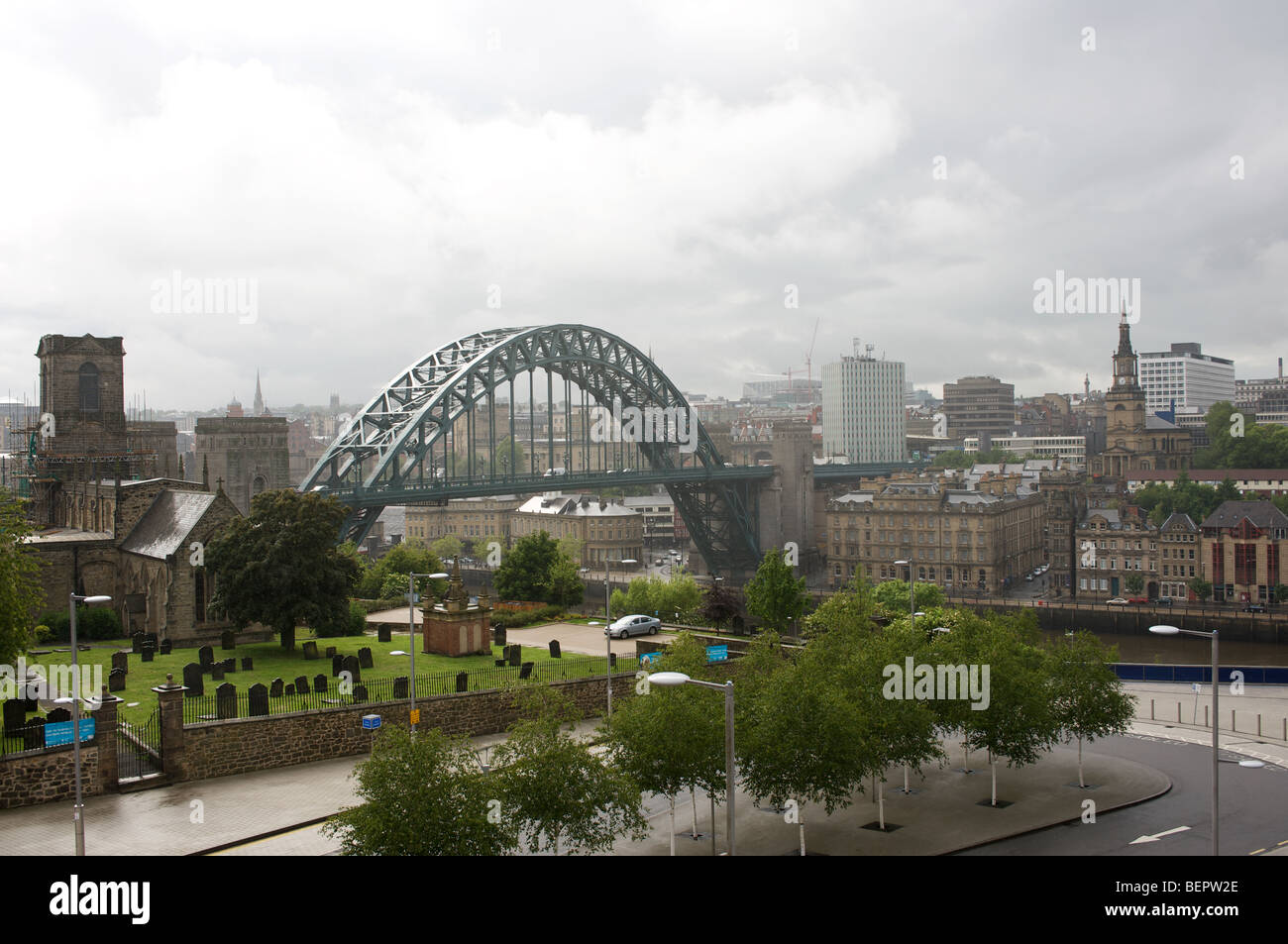 Tyne Bridge and city skyline, Newcastle upon Tyne, UK. Stock Photo