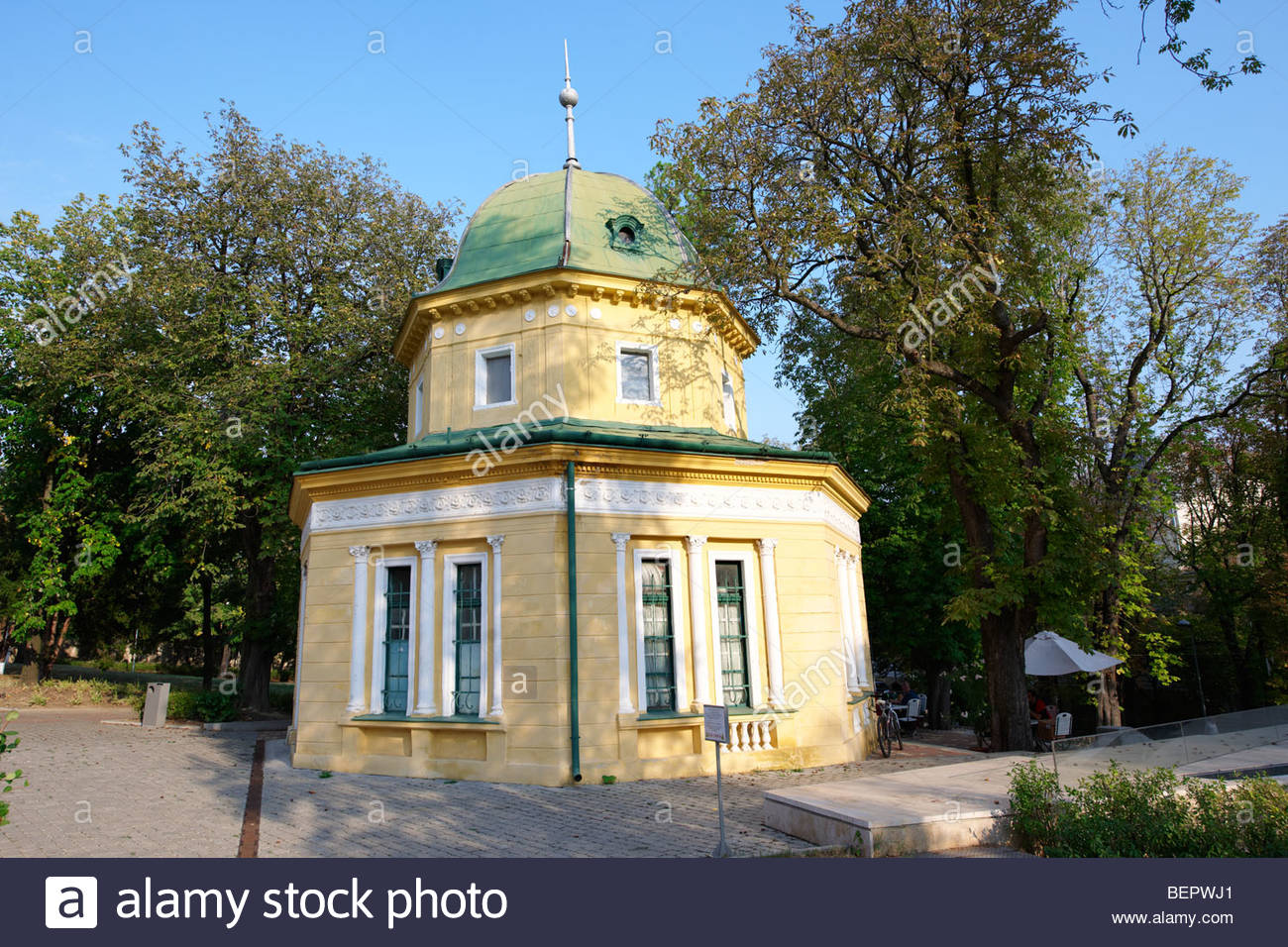 Pavillion in the park - Pecs - European Cultural City of The Year 2010 , Hungary - Stock Image