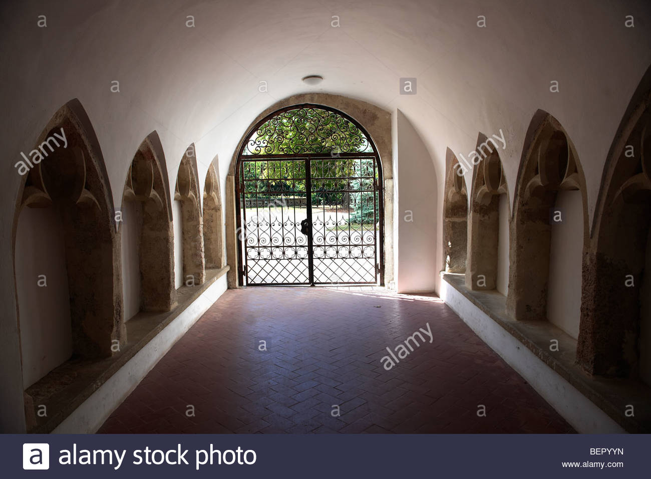 Entrance to Bishop's Palace gardens - ( Győr ) Gyor Hungary - Stock Image