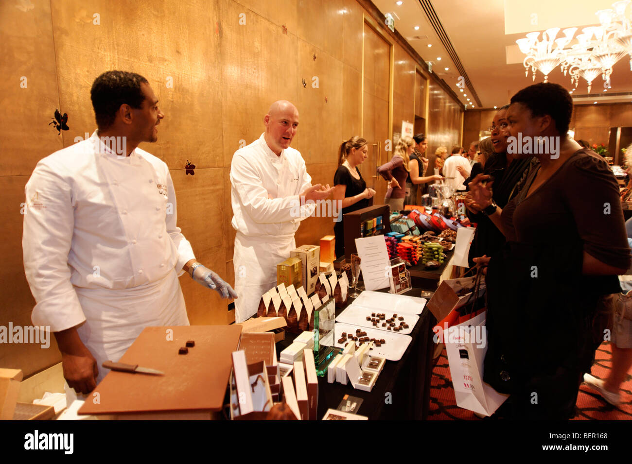 Coco Barry chocolatiers. Chocolate Unwrapped launch for Chocolate Week 2009. London. Britain. UK - Stock Image