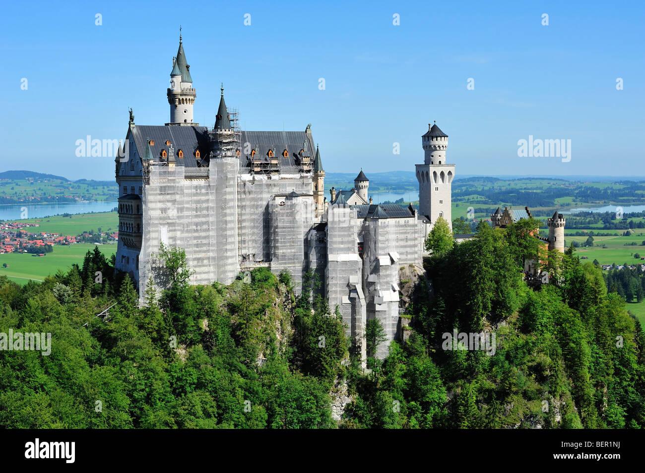 Neuschwanstein Castle, District of Ostallgäu, Bavaria, Germany Stock Photo