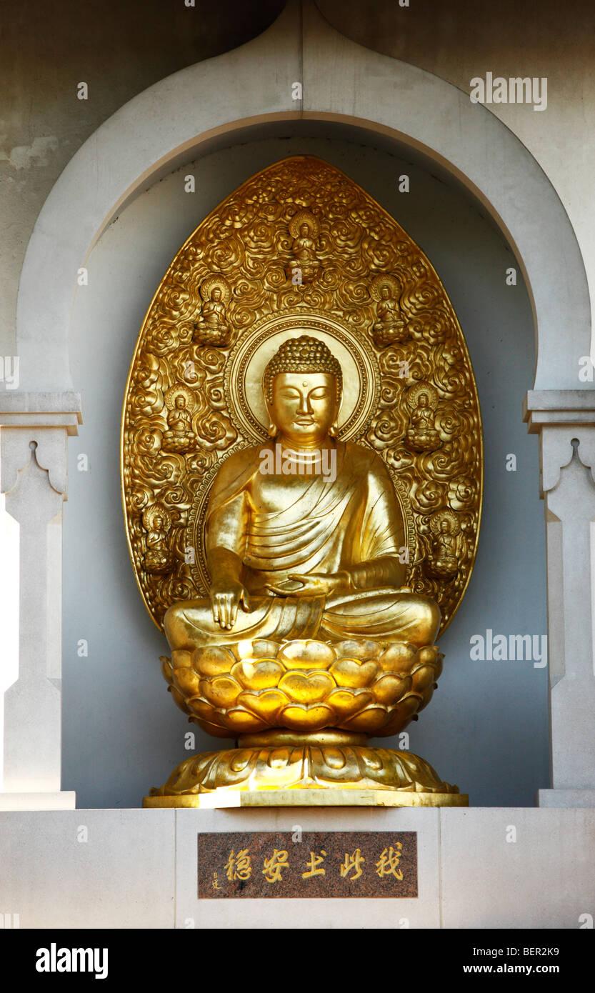 Buddha statue in Battersea park London UK - Stock Image