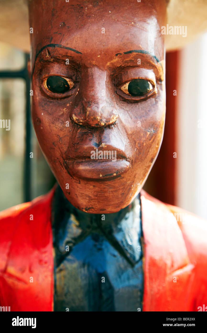 statue of Namibian man, Namibia - Stock Image