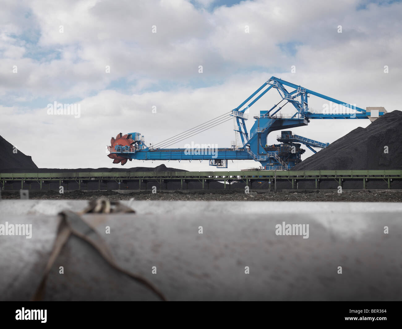 Heavy Machinery At Port - Stock Image