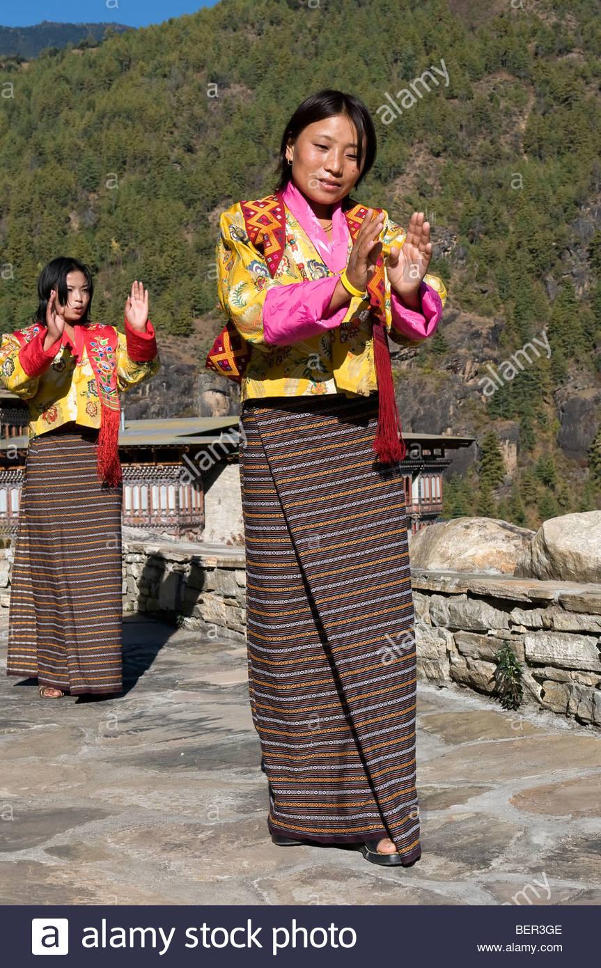 Bhutanese Dance - Stock Image