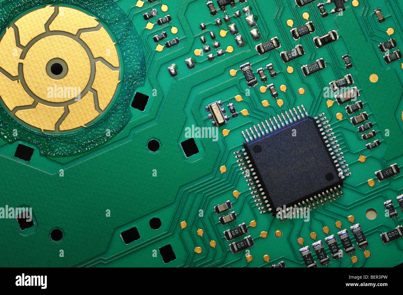 Circuit board from a Washing machine - Stock Image