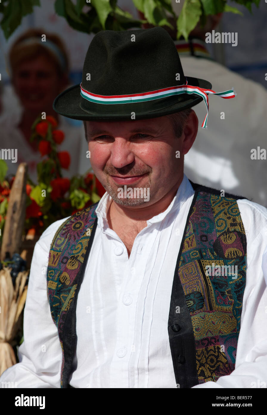 man in Hungarian traditional regional dress - Hungary - Stock Image