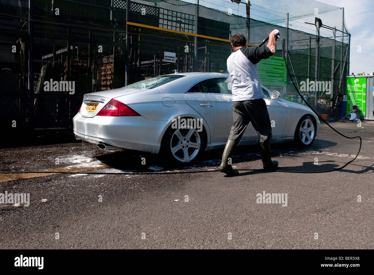 luxury car wash london  Eastern European immigrants operating a hand car wash service in the ...