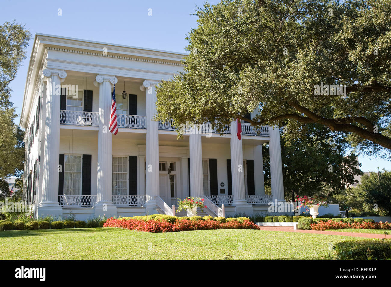The 1856 neoclassical-style Governor's Mansion is one of the