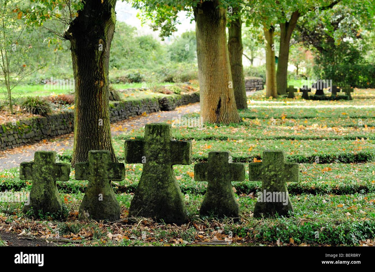 German War Cemetery Bad Bodendorf Near Remagen Stock Photo