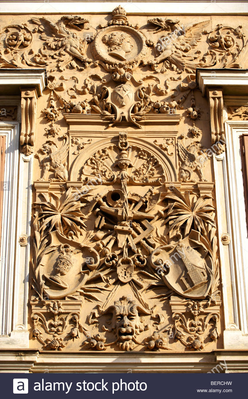 Zsolnay architectural features on Pecs  - European Cultural City of The Year 2010 , Hungary - Stock Image