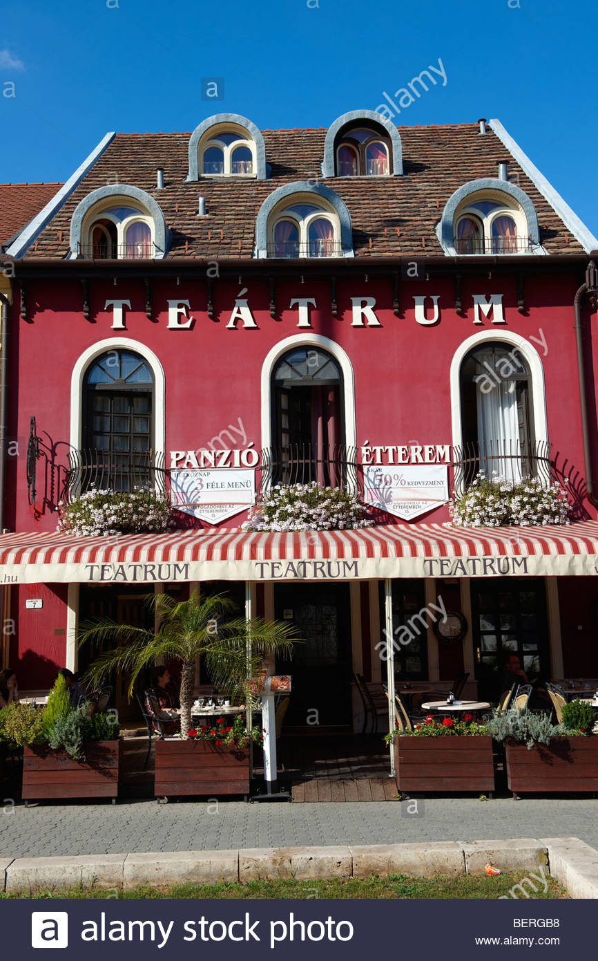 Theatre Tea Room (Teatrum) - ( Győr ) Gyor Hungary - Stock Image