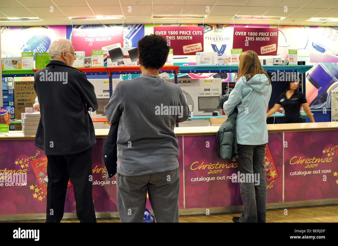 Christmas shoppers waiting for items at the Argos store - Stock Image