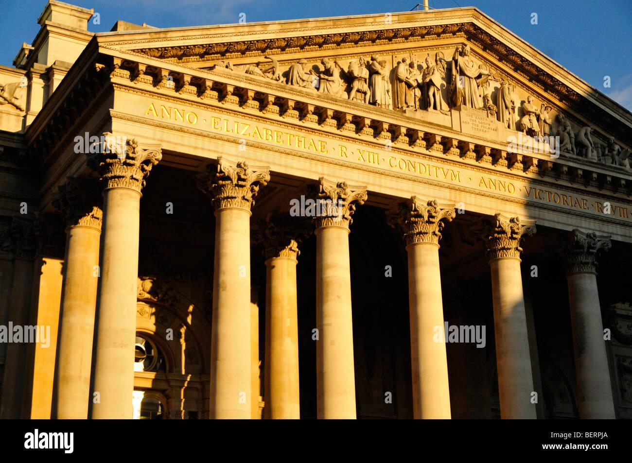 The Royal Exchange, Bank, City of London, EC3 - Stock Image