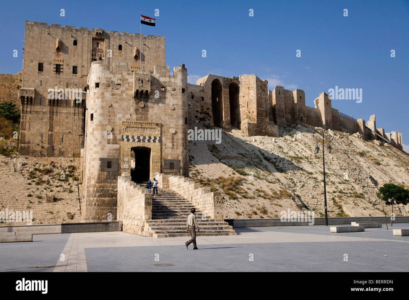 The old citadel, Aleppo, Syria, Middle East Stock Photo