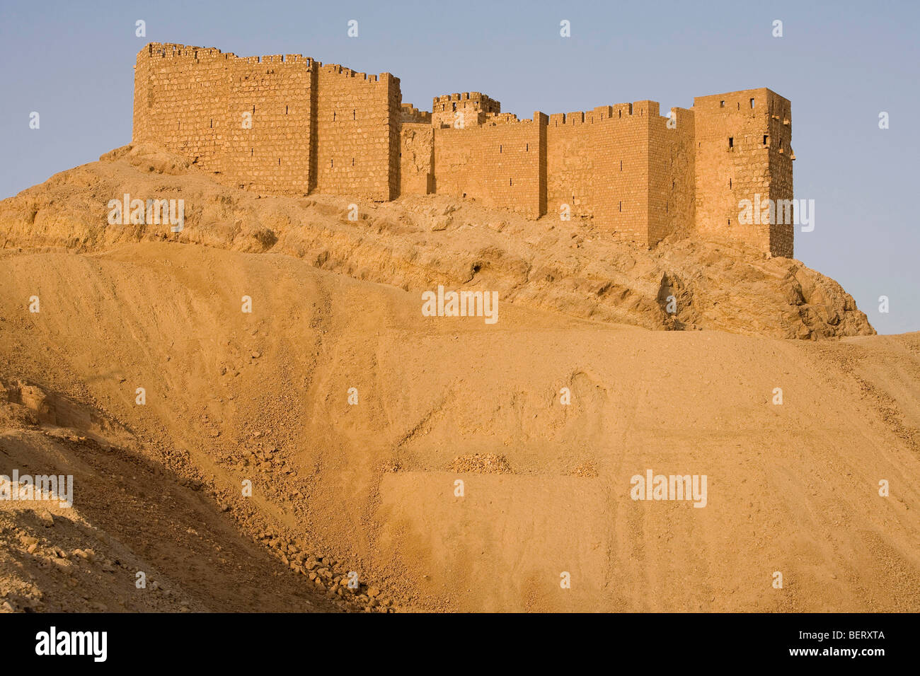 Old castle in Palmyra, Syria, Middle East, Asia - Stock Image