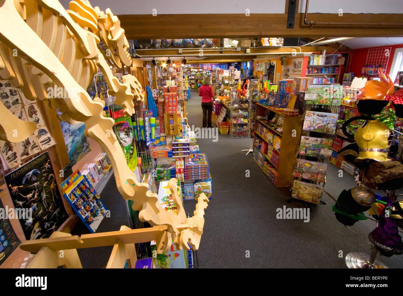 Toy store Tyrannosaurus Rex skeleton - Stock Image