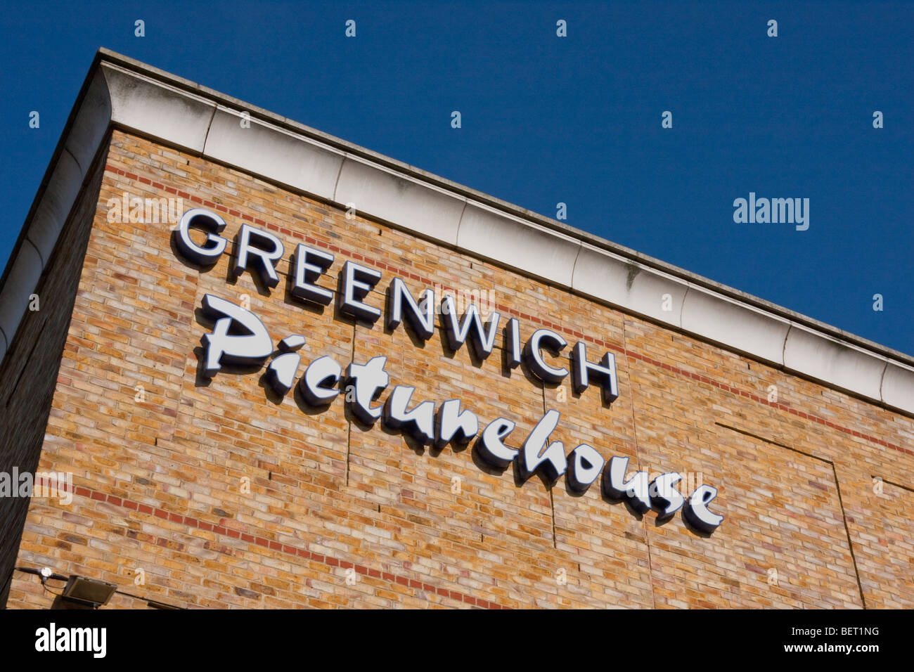 Greenwich Picturehouse sign, London UK. - Stock Image