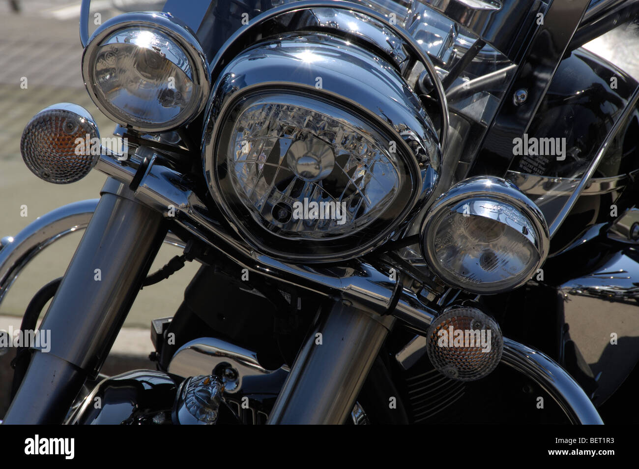 Details and parts of motos - Stock Image