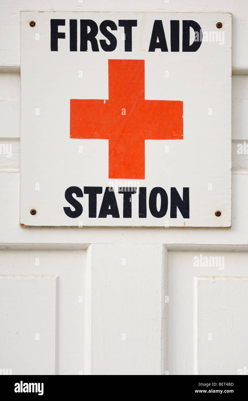 First Aid Station - Stock Image
